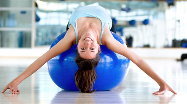 Супер упражнения для похудения с мячом для фитнеса