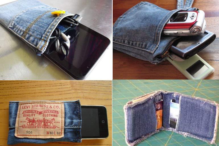 10 креативных поделок из старых джинсов своими руками